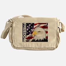 Freedom Flag & Eagle Messenger Bag