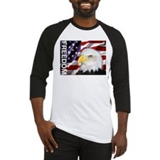 Freedom Flag & Eagle Baseball Jersey
