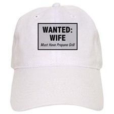 Wanted Wife with Propane Grill Baseball Cap