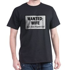 Wanted Wife with Propane Grill T-Shirt