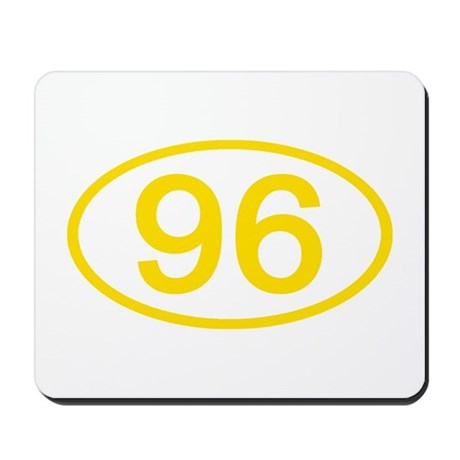 Number 96 Oval Mousepad