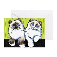Pair of Dolls Off-Leash Art™ Greeting Card