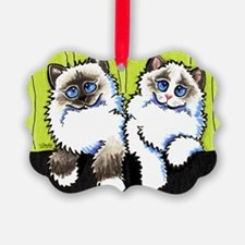 Pair of Dolls Off-Leash Art™ Ornament