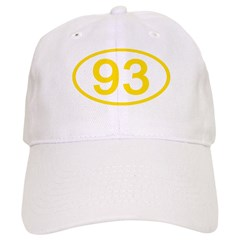 Number 93 Oval Baseball Cap