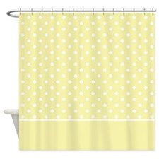Yellow with White Dots 2 Shower Curtain