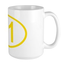 Number 91 Oval Mug