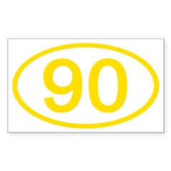 Number 90 Oval Rectangle Decal