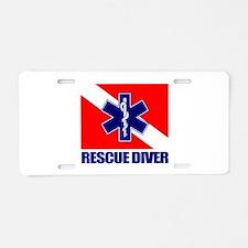 Rescue Diver (emt) Aluminum License Plate