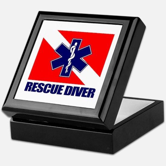 Rescue Diver (emt) Keepsake Box
