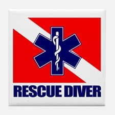 Rescue Diver (emt) Tile Coaster