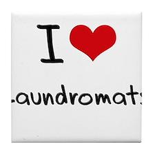 I Love Laundromats Tile Coaster