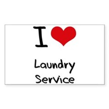 I Love Laundry Service Decal