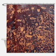Newspaper Rock Petroglyph Shower Curtain