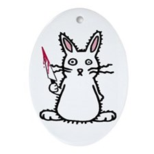 Psycho Bunny Oval Ornament
