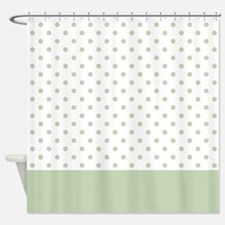 Light Green Dots 2 Shower Curtain