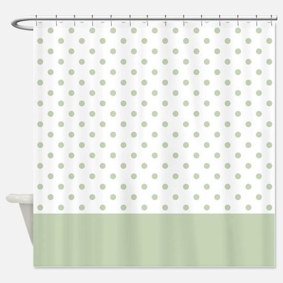 Light Green Dots 2 Shower Curtain