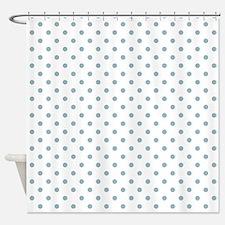 Light Blue Dots Shower Curtain