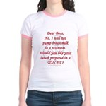Dear boss breastfeeder Jr. Ringer T-Shirt
