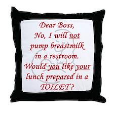 Dear boss breastfeeder Throw Pillow