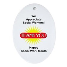 Social Work Appreciation Oval Ornament
