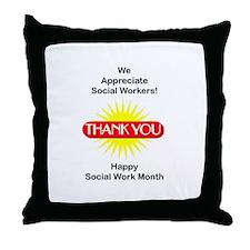 Social Work Appreciation Throw Pillow