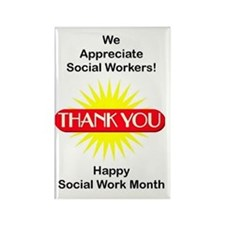 Social Work Appreciation Rectangle Magnet