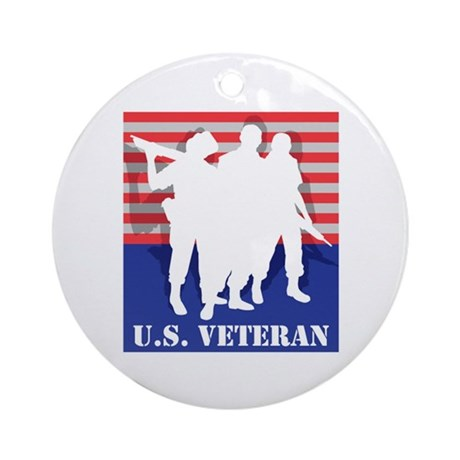 U.S. Veteran Ornament (Round)