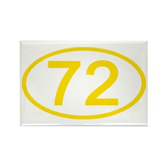 Number 72 Oval Rectangle Magnet (10 pack)