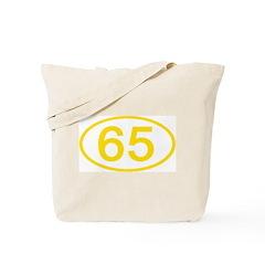 Number 65 Oval Tote Bag