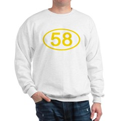 Number 58 Oval Sweatshirt