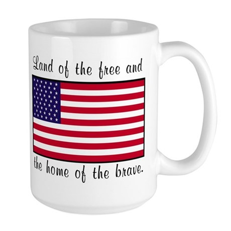 Home of the Brave Large Mug