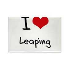 I Love Leaping Rectangle Magnet