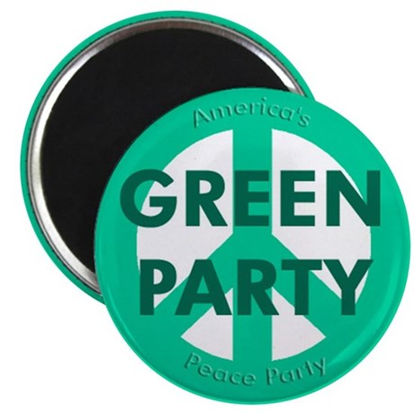 Green Party Peace Sign Magnet (10 pack)
