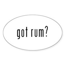 Got Rum? Oval Decal