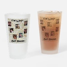 Lost and Drunk Drinking Glass