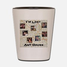 Lost and Drunk Shot Glass