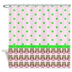 Owls and Polka Dots Shower Curtain