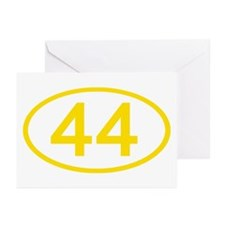 Number 44 Oval Greeting Cards (Pk of 10)