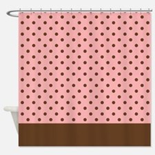dots shower curtains dots fabric shower curtain liner. Black Bedroom Furniture Sets. Home Design Ideas