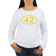 Number 42 Oval T-Shirt