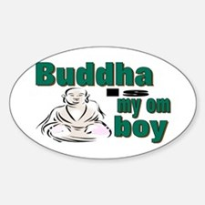 Buddha Oval Decal