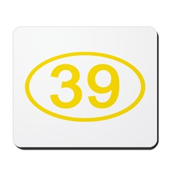 Number 39 Oval Mousepad