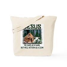 Jesus, Lion & Lamb Tote Bag