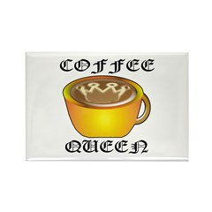 Coffee Queen Rectangle Magnet (10 pack)