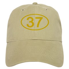 Number 37 Oval Cap