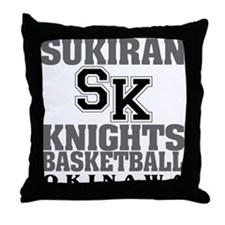 Knights Basketball Throw Pillow