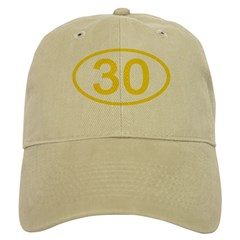 Number 30 Oval Baseball Cap