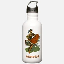 Vintage Jamaica Travel Water Bottle
