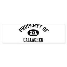 Property of Gallagher Bumper Bumper Sticker