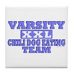 Varsity Chili Dog Team Tile Coaster